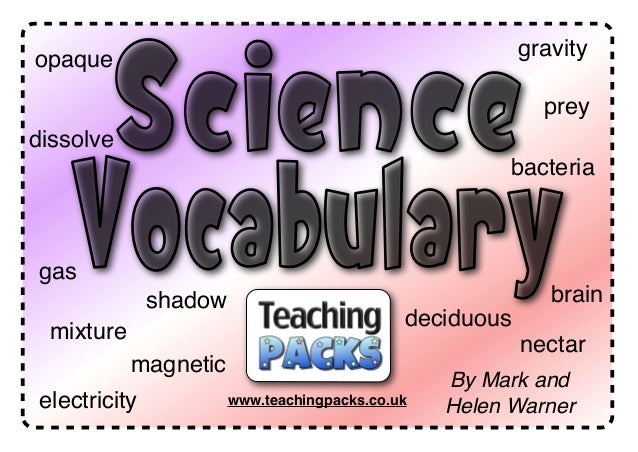 © www.teachingpacks.co.uk By Mark and Helen Warnerwww.teachingpacks.co.ukelectricity magnetic gas shadow deciduous nectar ...