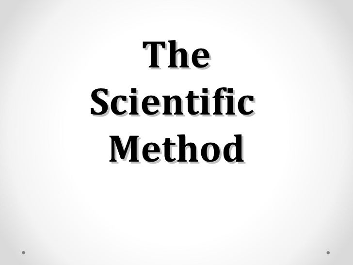 TheScientific Method