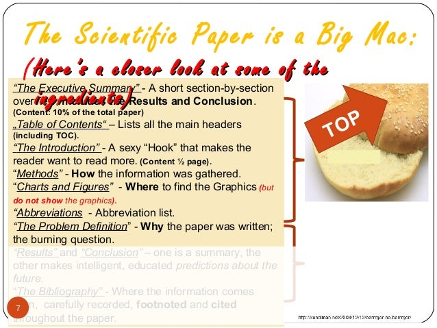 how to write cientific report