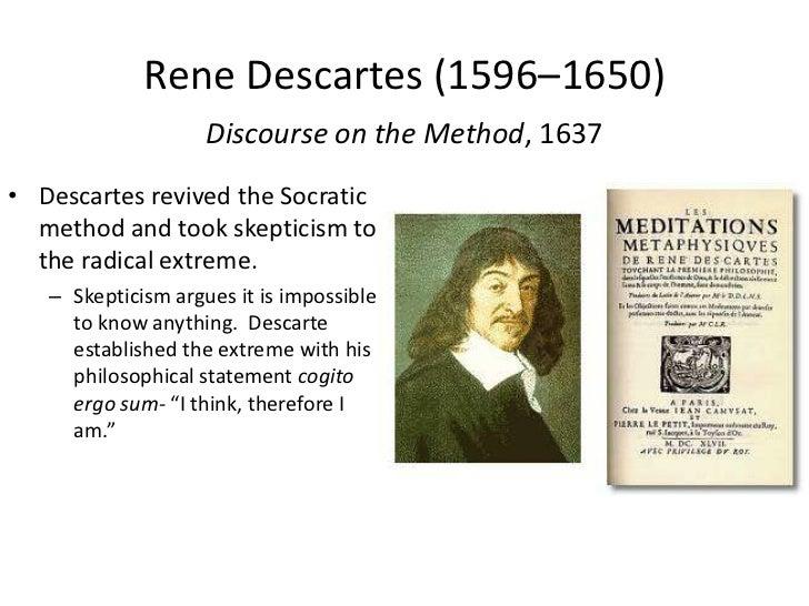 Descartes statement cogito ergo sum essay