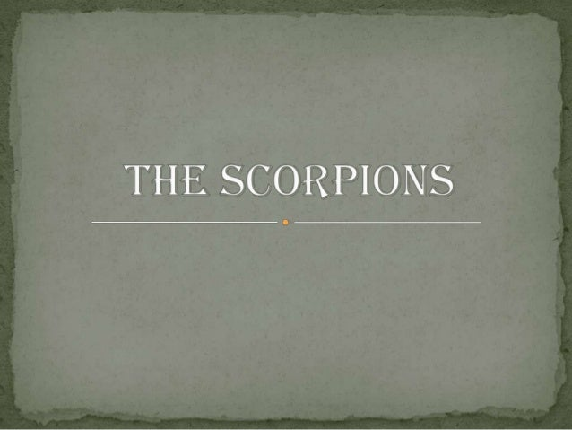 Basicinformationabout theScorpionsA Scorpion is a smallanimal with apotentially dangerousvenomous sting in it'stail . the ...