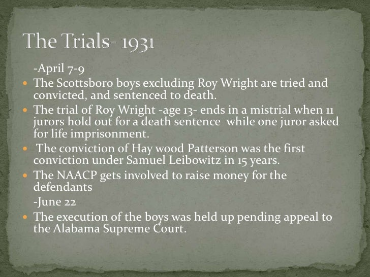scottsboro trial and to kill a mockingbird essay There are several striking parallels between tom robinson's trial in to kill a mockingbird and the scottsboro trials:  robinson's trial took place in 1930s.