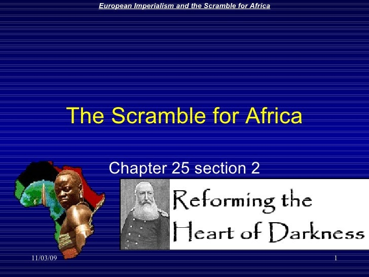 The Scramble for Africa Chapter 25 section 2