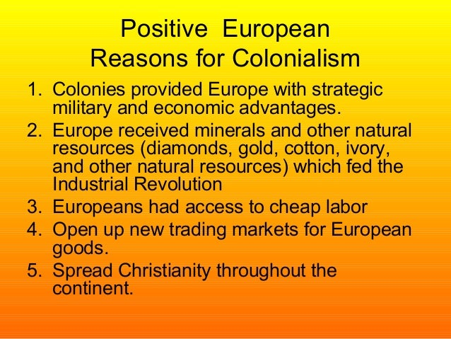 colonization and its economic impacts Nearly the entire spectrum of social, economic  , its relevance to  and explains how colonization also accounts for differing.