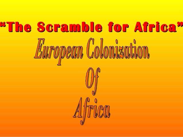 """""The Scramble for Africa""The Scramble for Africa"""