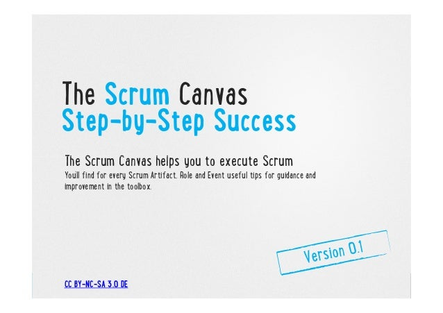 The Scrum Canvas Step-by-Step Success The Scrum Canvas helps you to execute Scrum You'll find for every Scrum Artifact, Ro...