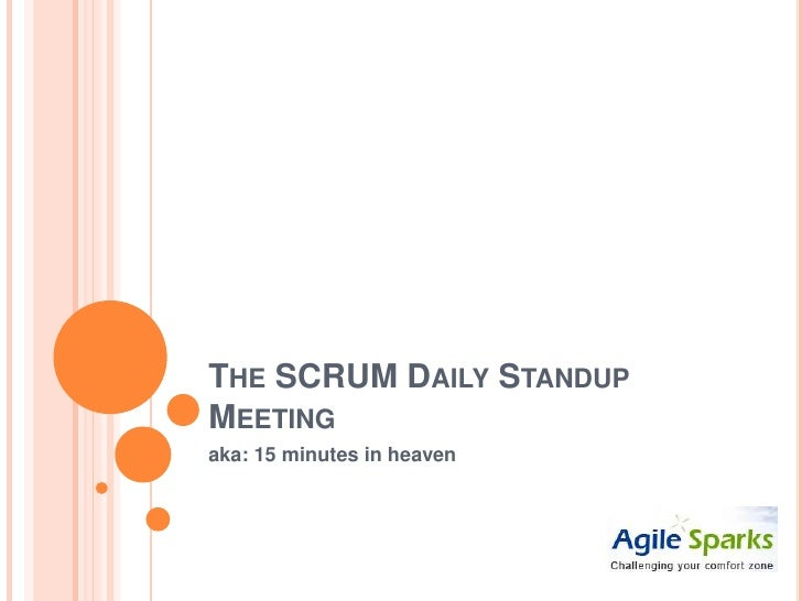 The s c r u m daily standup meeting for Stand up meeting minutes template