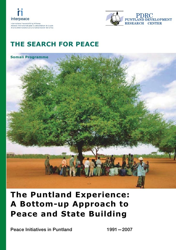 THE SEARCH FOR PEACE Somali Programme                           Haani salka ayeey ka unkantaa                  A milk cont...