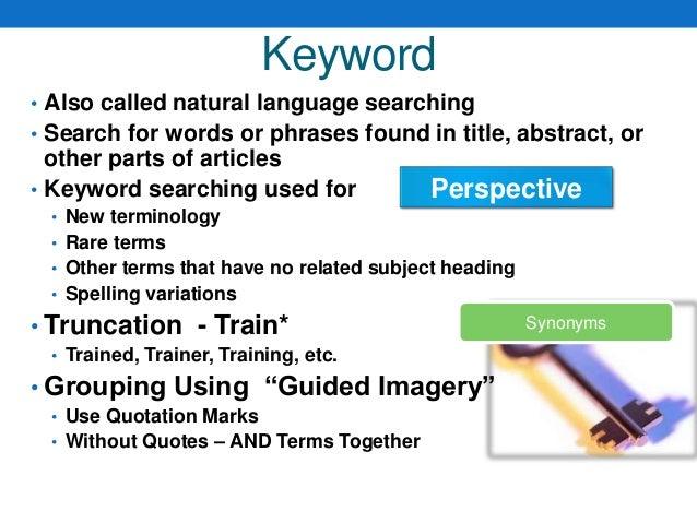 Boolean Search Vs Natural Language Search