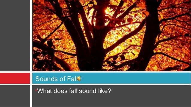 Sounds of FallWhat does fall sound like?