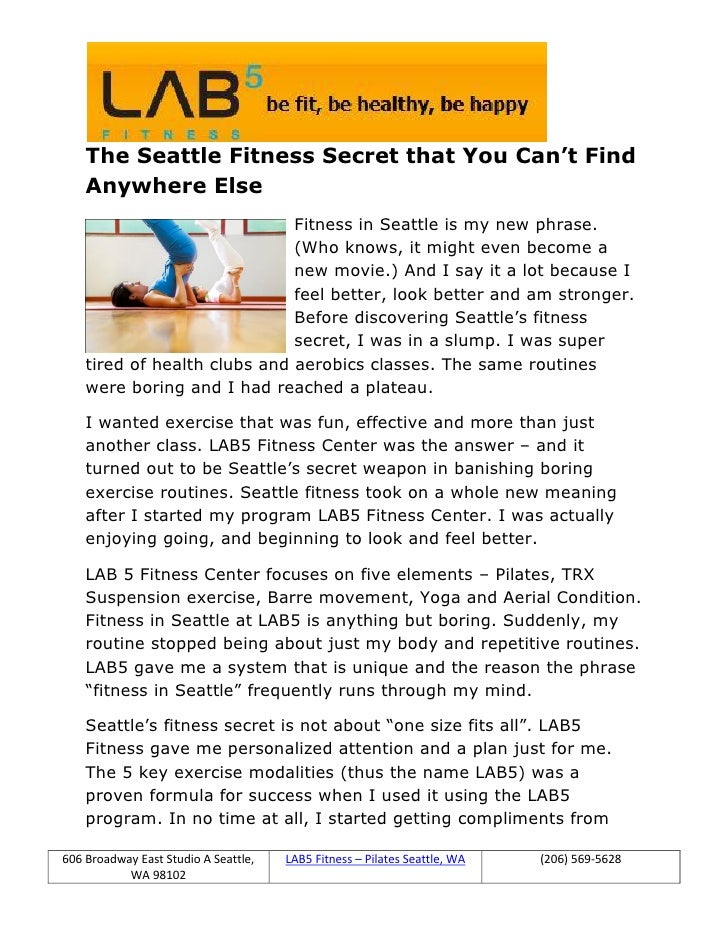 The Seattle Fitness Secret that You Can't Find    Anywhere Else                              Fitness in Seattle is my new ...