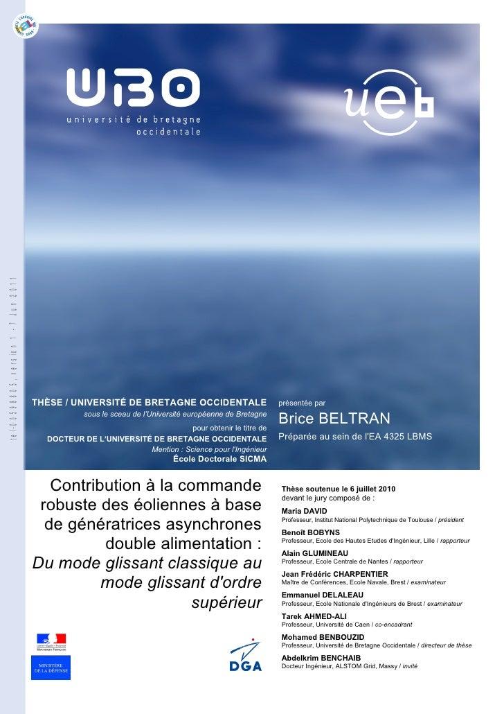 tel-00598805, version 1 - 7 Jun 2011                                       THÈSE / UNIVERSITÉ DE BRETAGNE OCCIDENTALE     ...