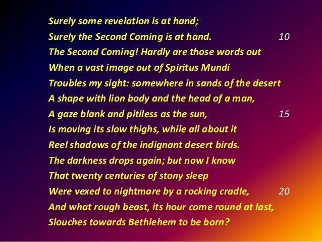 yeats poem the second coming