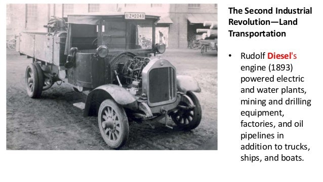 what effect did the second industrial revolution have on transportation