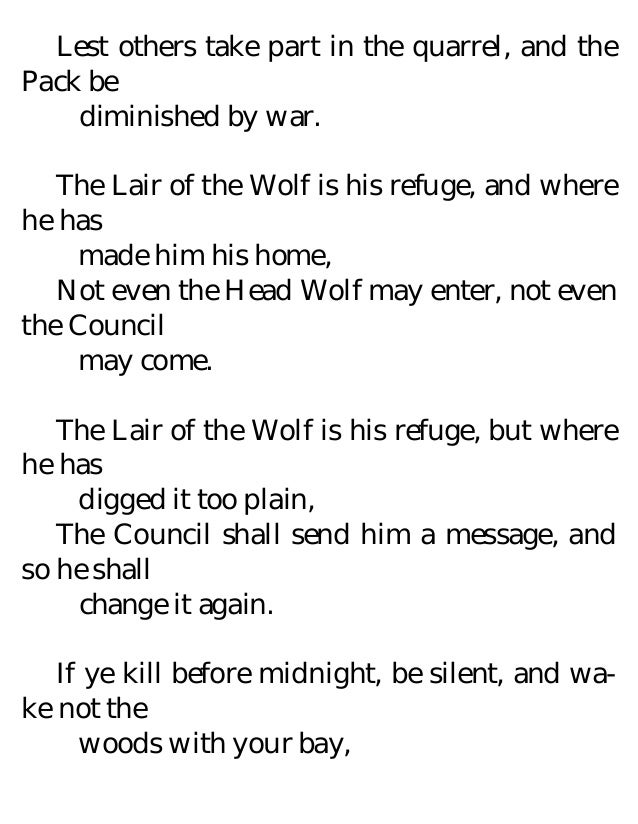 jungle book wolf pack