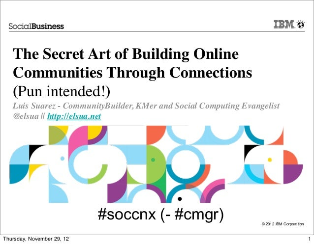 The Secret Art of Building Online   Communities Through Connections   (Pun intended!)   Luis Suarez - CommunityBuilder, KM...