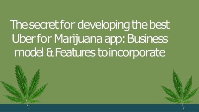 Thesecretfordevelopingthebest UberforMarijuanaapp:Business model&Featurestoincorporate