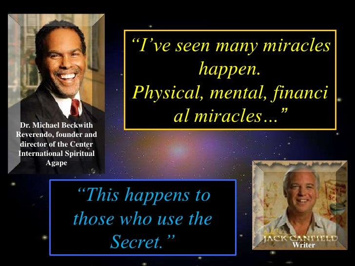 """I've seen many miracles                                    happen.                           Physical, mental, financi  D..."