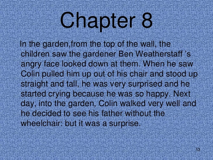 12 13 chapter 8in the garden - The Secret Garden Summary