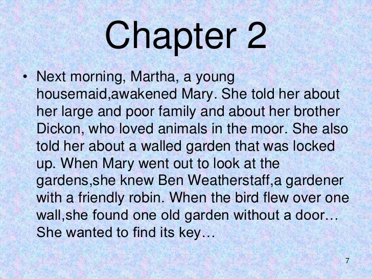 6 7 - The Secret Garden Summary