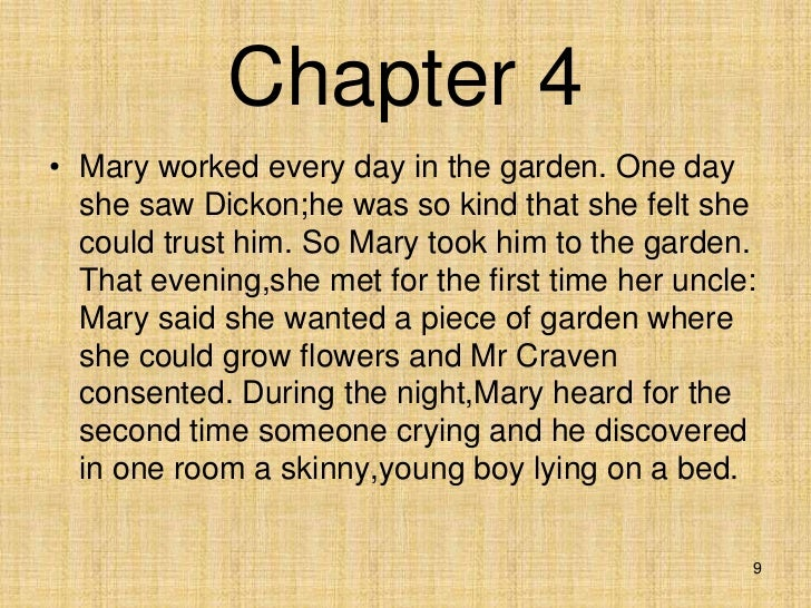 8 9 - The Secret Garden Summary