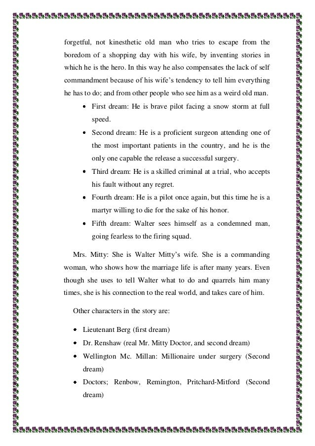 "the secret life of walter mitty essay conclusion Essays and criticism on james thurber ""the secret life of walter mitty"" cleverly humorous surface of james thurber's ""the secret life of walter mitty."