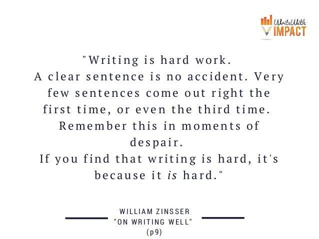 writing is hard essay