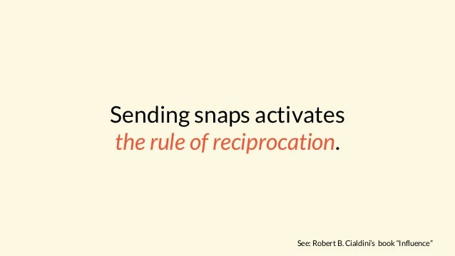 Reciprocity in social psychology refers to our need to respond to a positive action with another positive action.