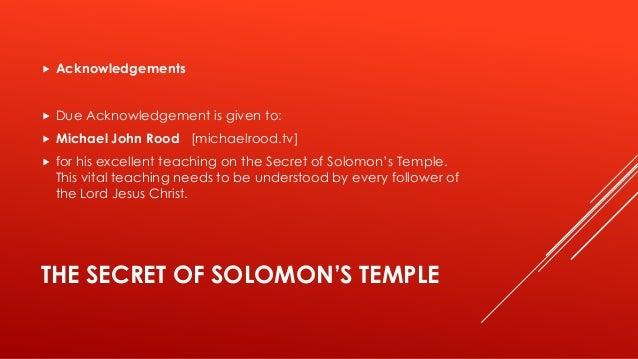 The Secret of Solomon's Temple