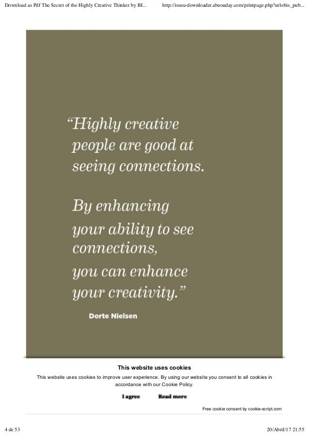 The secret of the highly creative thinker by bis publishers