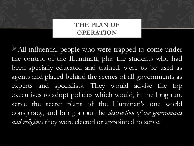 All influential people who were trapped to come underthe control of the Illuminati, plus the students who hadbeen special...