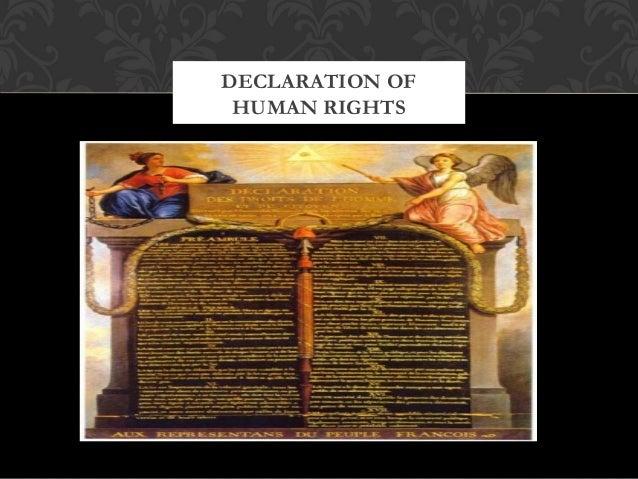 DECLARATION OFHUMAN RIGHTS
