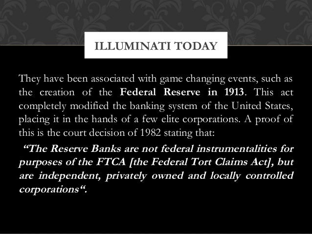 They have been associated with game changing events, such asthe creation of the Federal Reserve in 1913. This actcompletel...