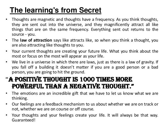 The secret & the law of attraction ppt (exclusive edition) youtube.