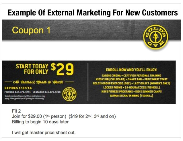 Example Of Internal Marketing For Current Members