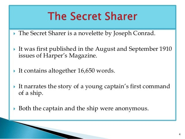 An analysis of the theme of secrets in the secret sharer by joseph conrad