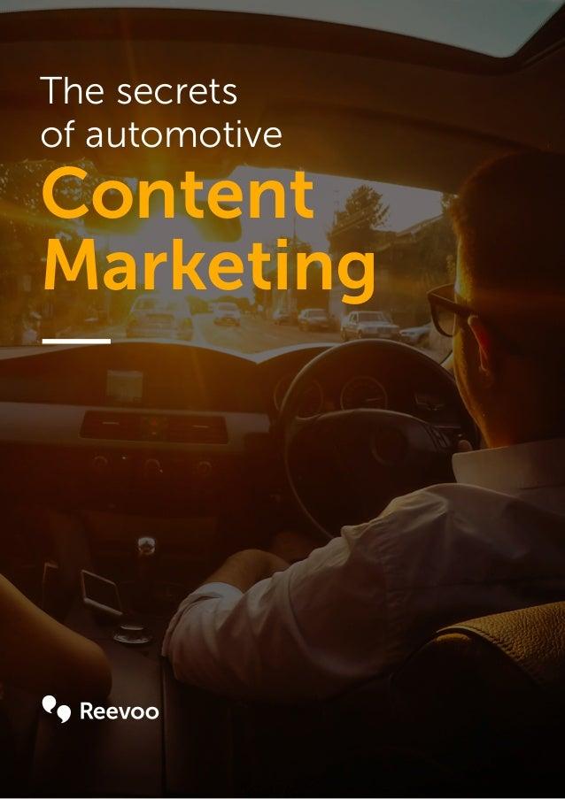 The secrets of automotive Content Marketing