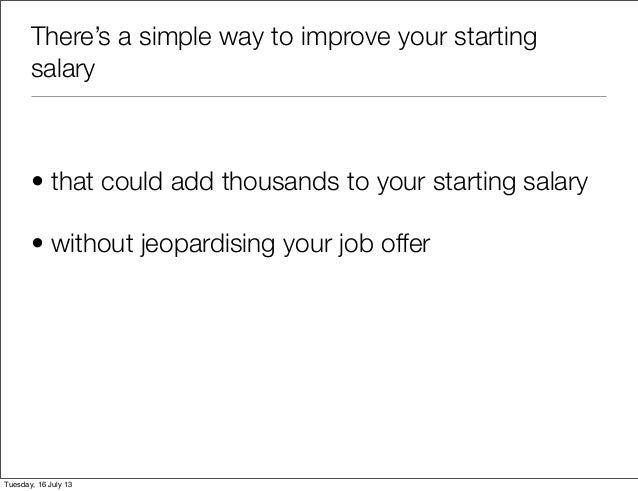 Negotiating a higher starting salary,