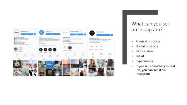 The secret to selling on instagram