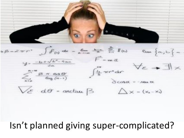 The secret to understanding planned giving Slide 3