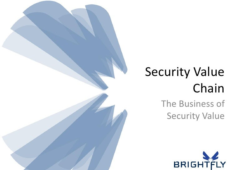 Security Value          Chain   The Business of    Security Value