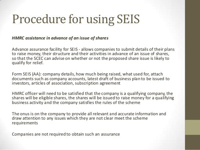The Seed Enterprise Investment Scheme Seis The Day