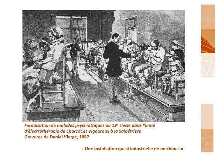 Faradisa6on de malades psychiatriques au 19e siècle dans l'unité d'électrothérapie de Charcot et ...