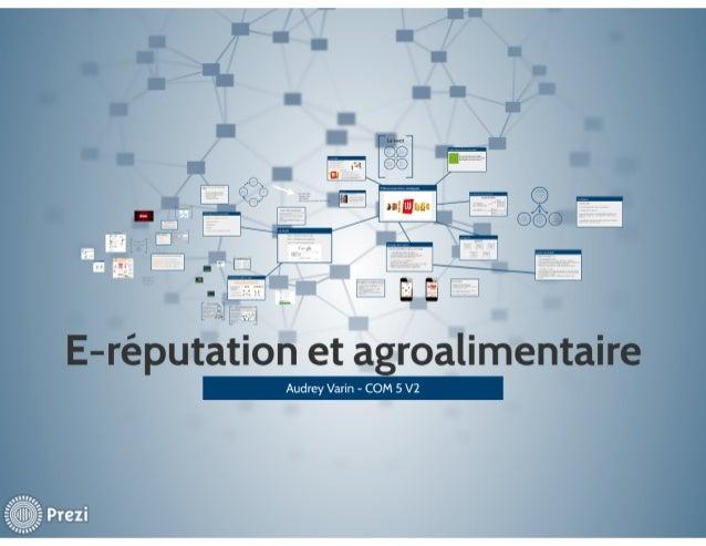 E-réputation et agroalimentaire