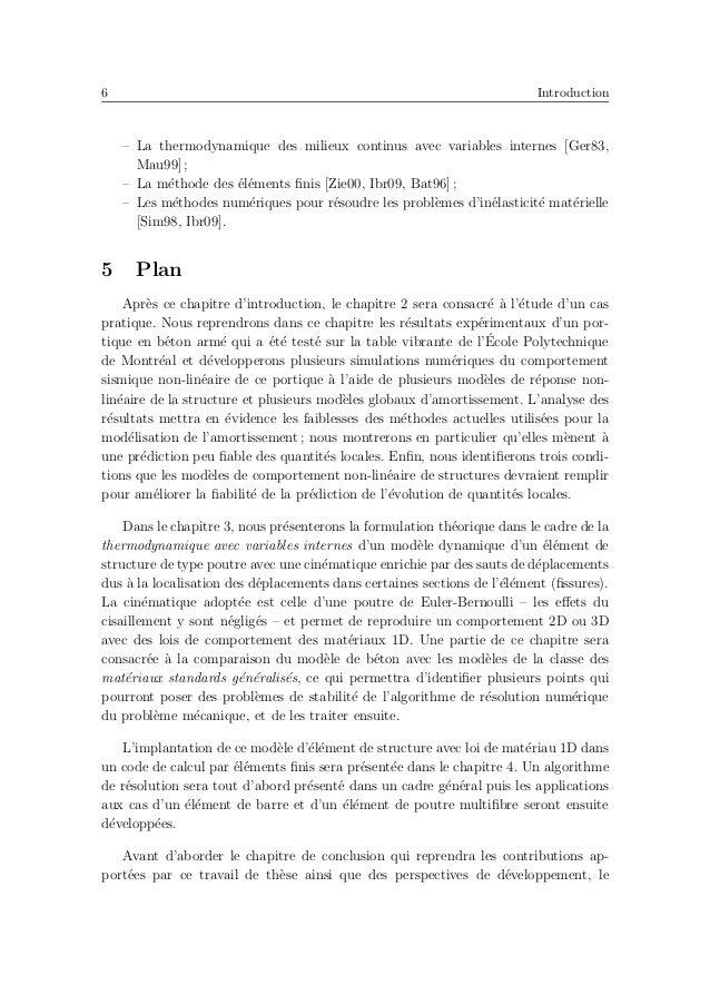 10 Revue de l'´etat de l'art 1 Introduction Des analyses dynamiques non-lin´eaires sont aujourd'hui fr´equemment utilis´ee...