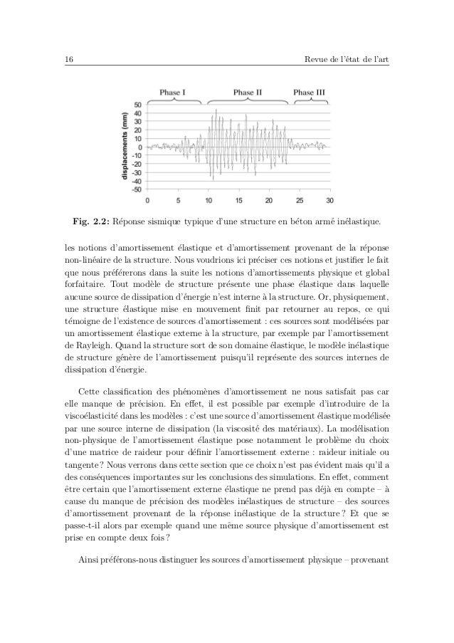 20 Revue de l'´etat de l'art des analyses dynamiques lin´eaires de quatre bˆatiments en b´eton arm´e frapp´es par le s´eis...