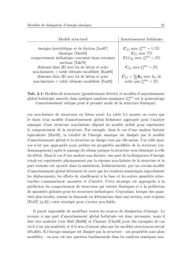 Analyse sismique num´erique d'un portique en b´eton arm´e 25 Fig. 2.5: Mod`ele avec plasticit´e concentr´ee : (a) g´eom´et...