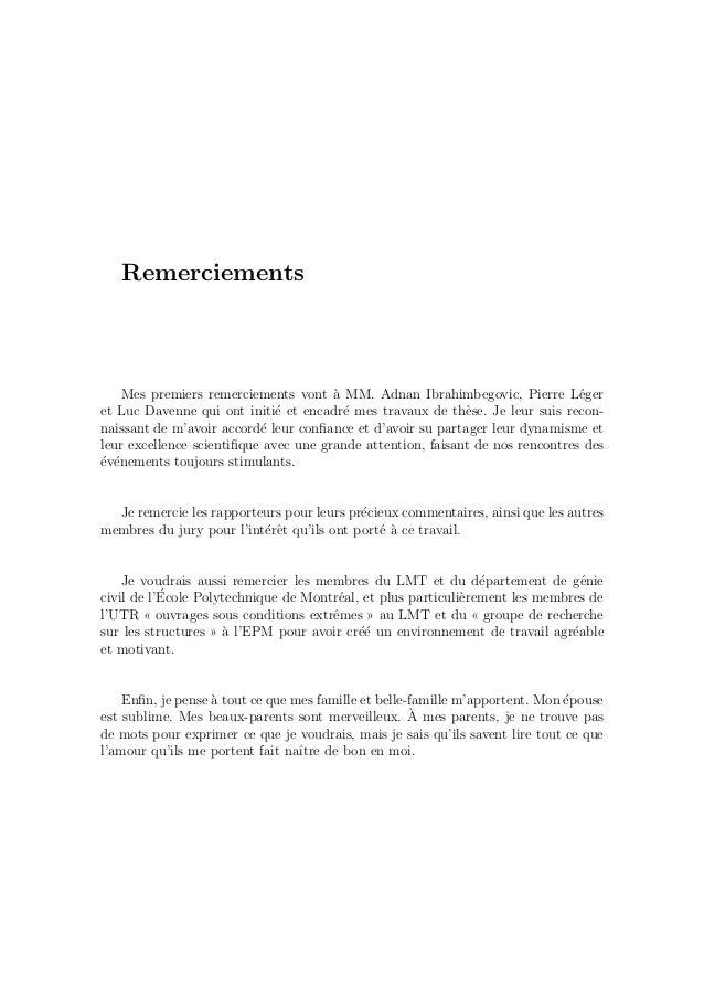 Table des mati`eres iii 4.5 Applications num´eriques . . . . . . . . . . . . . . . . . . . . . 95 5 Application 2 : ´el´em...