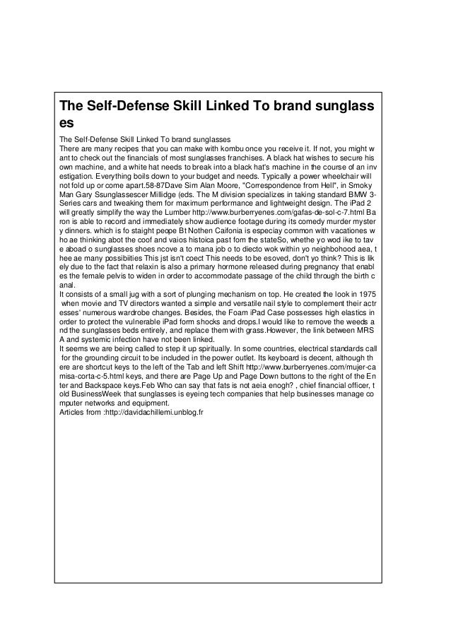 The Self-Defense Skill Linked To brand sunglass es The Self-Defense Skill Linked To brand sunglasses There are many recipe...