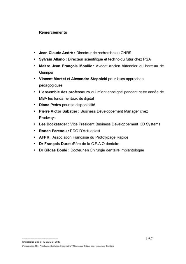 L'impression 3D Prochaine révolution Industrielle? MBA MCI Christophe Loisel Slide 2